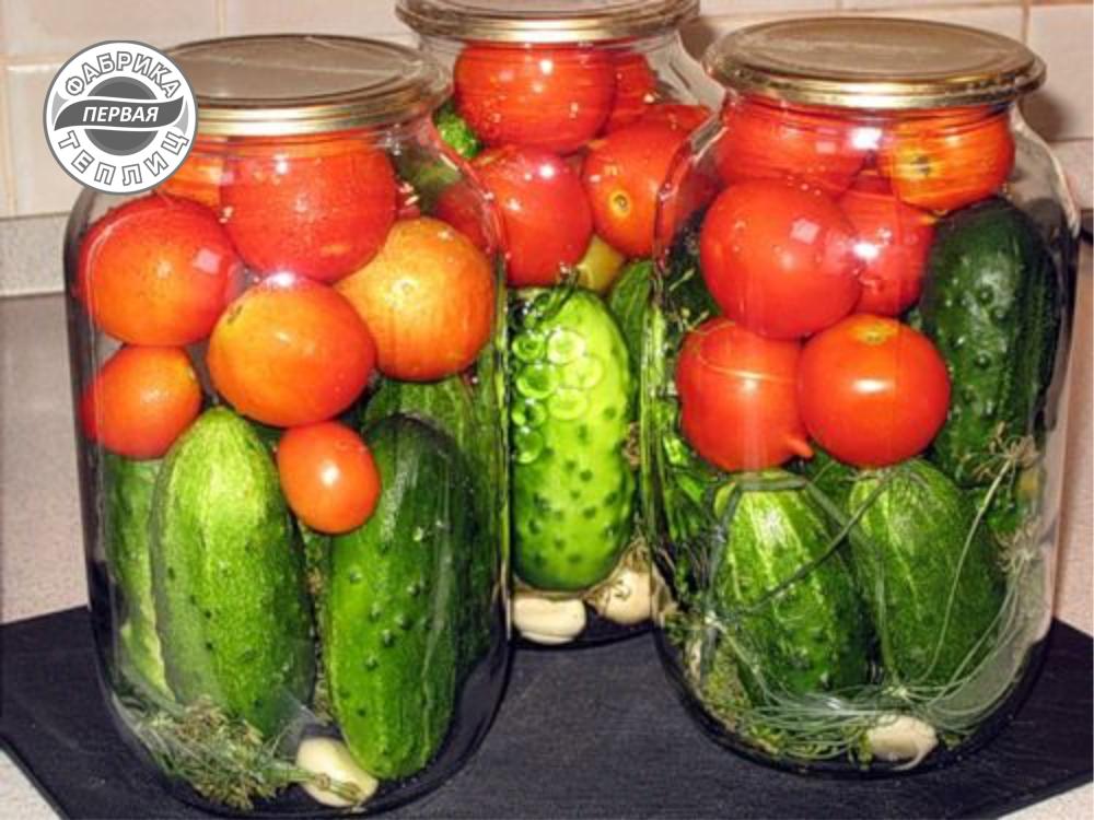 Рецепт ассорти из огурцов и помидоров на зиму